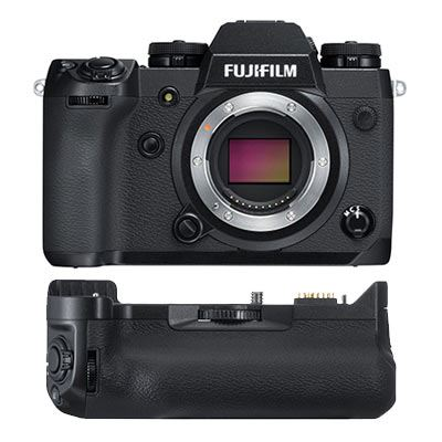 FujiFilm X-H1 Digital Camera Body with Vertical Grip and 2 Battery Kit