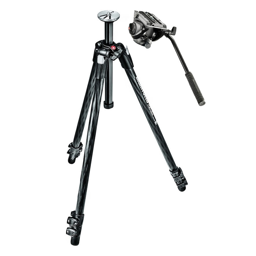Manfrotto MK290XTC3 Carbon Tripod with HMV500 AH Fluid Head
