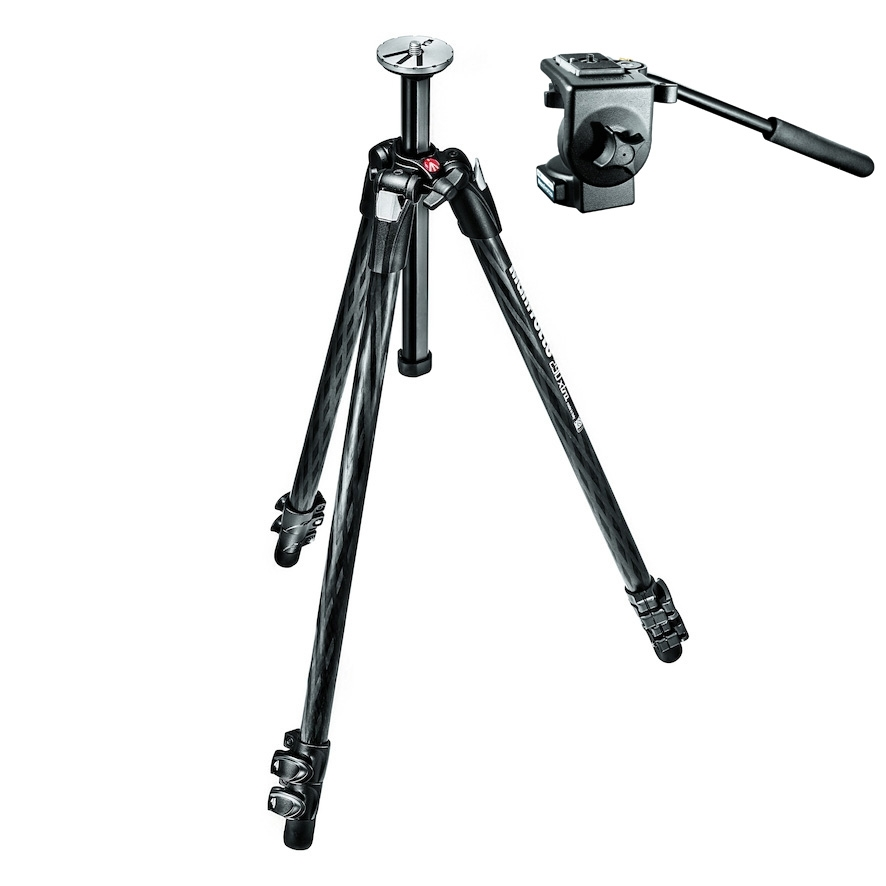 Manfrotto MK290XTC3 Carbon Fibre Black Legs with 496RC2 Ball Head