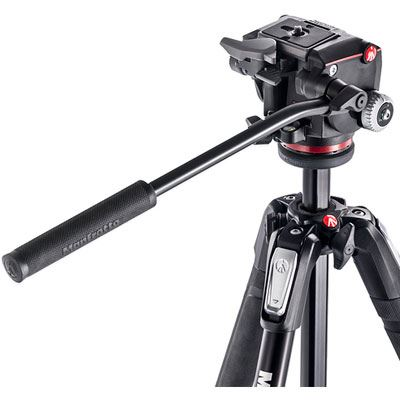 Manfrotto MK190X3 Tripod and MHXPRO Fluid Head