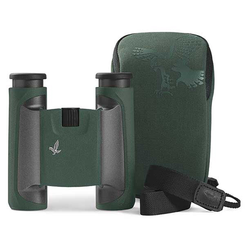 Swarovski CL 10x25 Pocket Binoculars Green - with Wild Nature Accessory Pack